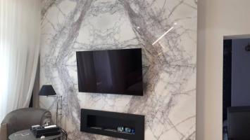 Монтаж телевизора на мрамор на кронштейн NB C70-T