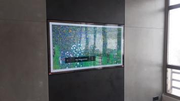 Установка кронштейна NB 767-L600 на красивую стену