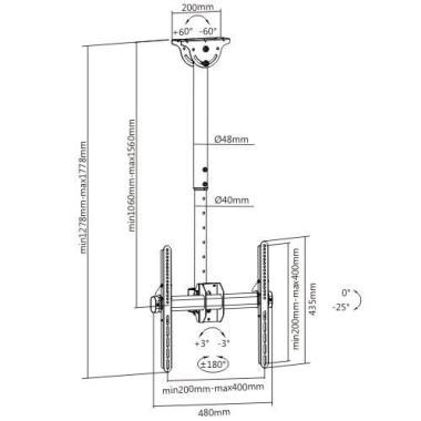 Кронштейн Fixtech PLB-CE944-01L для ТВ