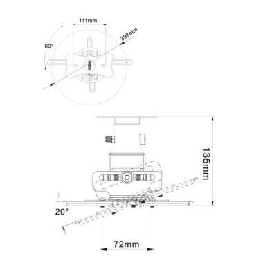 Кронштейн для видео проекторов NB T717M BLK